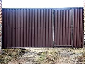 ворота сдвижные с калиткой