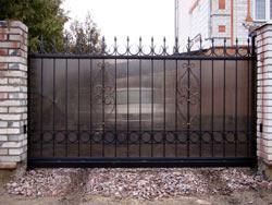 ворота откатные с поликарбонатом