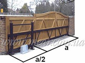 схема арочных откатных ворот