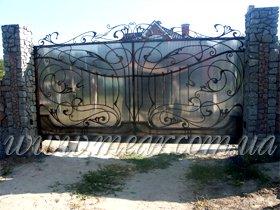 кованые автоматические ворота