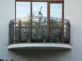 кованое ограждение балконное