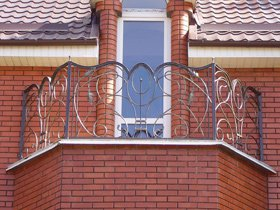 балконое кованое ограждение