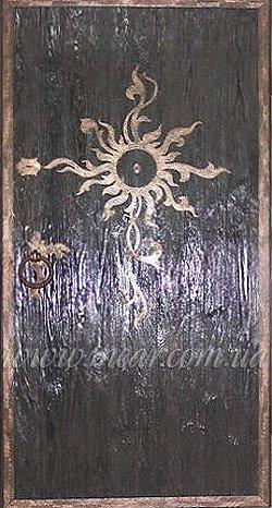 Бронедверь деревянная