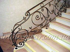 кованые ограждение лестниц