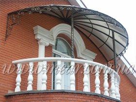 козырек для балкона с ковкой