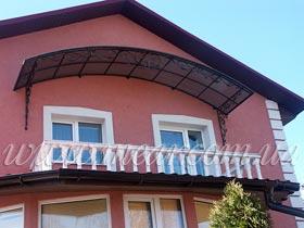 козырек над балконами