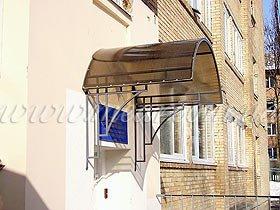 козырек из поликарбоната над входом арт.koz.36