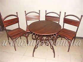 Кованные столовые наборы