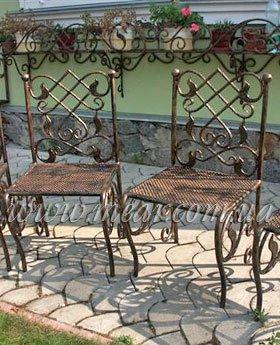 Кованные стулья, изготовление