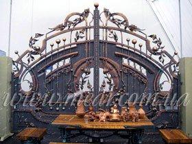 Ворота, художественная ковка